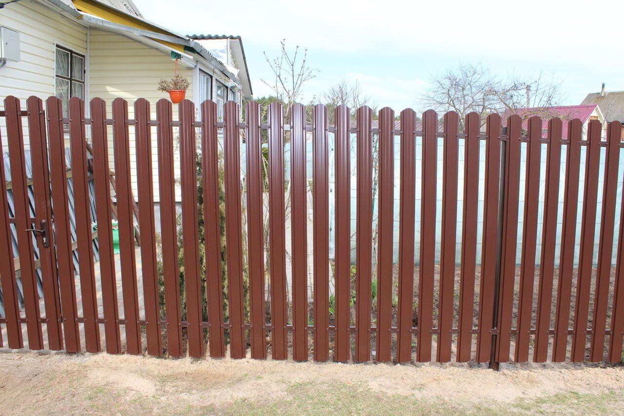 Забор из металлоштакетника цена автоматические ворота стильстрой